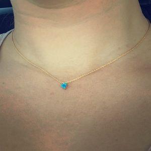 Jewelry - 14 Karat Gold Dainty Triangle Necklace